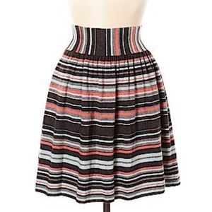 Sparrow (Anthropologie) Lima lines sweater skirt